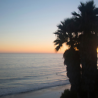 USA, California, San Diego. Swami's Beach at Sunset, Cardiff by the Sea (Encinitas).