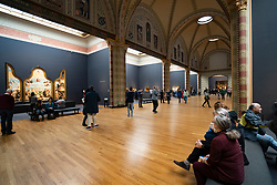Gallery inside the Rijksmuseum in Amsterdam, The Netherlands