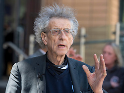 © Licensed to London News Pictures;22/04/2021; Bristol, UK. PIERS CORBYN leaves Bristol Magistrates Court where he is accused of involvement in a Bristol anti-lockdown protest in November 2020, in breach of Covid lockdown rules. It is alleged that he along with four others who were due in court today, participated in a gathering of more than two people on 14 November 2020, when at the time Covid regulations prohibited gatherings of more than two people and did not allow protests. A trial date at the same court has been set for 03 August. Piers Corbyn is standing for London Mayor. Photo credit: Simon Chapman/LNP.