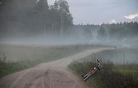 09.2016 Suwalszczyzna Pierwszy dzien jesieni N/z rower przy drodze fot Michal Kosc / AGENCJA WSCHOD