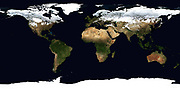 World Flat projection map from composite of satellite images. Credit NASA: Science Earth Geology Oceanography