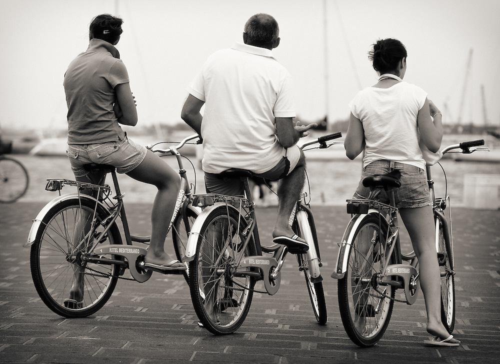 Italy - Chioggia - Bikers triad