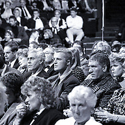 NLD/Bussum/19881222 - Sportverkiezing van het Jaar 1988 in het Spant, optreden, bokser Pedro van Raamsdonk in het publiek