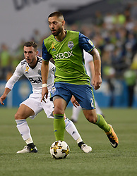 September 27, 2017 - Seattle, WASHINGTON, U.S - Soccer 2017: The Sounders CLINT DEMPSEY (2) in action as the Vancouver Whitecaps visit the Seattle Sounders for an MLS match at Century Link Field in Seattle, WA. (Credit Image: © Jeff Halstead via ZUMA Wire)