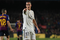 February 6, 2019 - Barcelona, BARCELONA, Spain - Lucas Vazquez of Real Madrid in action during Spanish King championship, football match between Barcelona and Real Madrid, February 06th, in Camp Nou Stadium in Barcelona, Spain. (Credit Image: © AFP7 via ZUMA Wire)