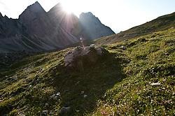 THEMENBILD - Sonnenuntergang am Laserz, Große und Kleine Gamswiesenspitze, Lienzer Dolomiten, AUT, EXPA Pictures © 2011, PhotoCredit: EXPA/ M. Gruber