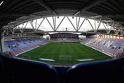 A general view of the DW Stadium, home of Wigan Athletic - Mandatory by-line: Joe Dent/JMP - 20/10/2020 - FOOTBALL - DW Stadium - Wigan, England - Wigan Athletic v Peterborough United - Sky Bet League One