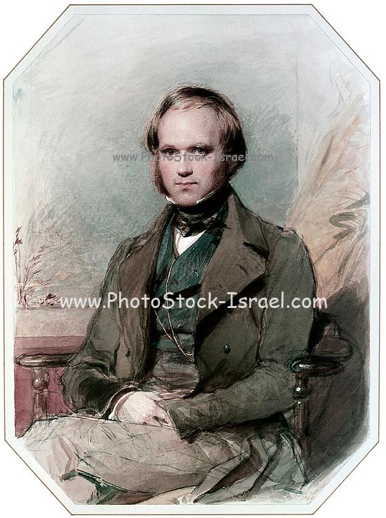 Charles Darwin portrait by George Richmond, 1840. Charles Darwin English scientist: 12 February 1809 – 19 April 1882. George Richmond English painter: 28 March 1809 – 19 March 1896.