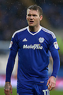 Aron Gunnarsson of Cardiff city, without his trademark beard. EFL Skybet championship match, Cardiff city v Fulham at the Cardiff city stadium in Cardiff, South Wales on Saturday 25th February 2017.<br /> pic by Andrew Orchard, Andrew Orchard sports photography.