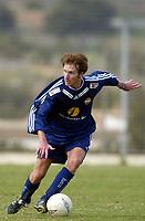 Fotball - Treningsleir La Manga.11. mars 2002. Rune Hagen, Strømsgodset.  <br /> <br /> Foto: Andreas Fadum, Digitalsport