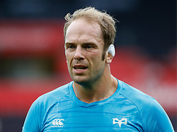 Alun Wyn Jones of Ospreys during the pre match warm up<br /> <br /> Photographer Simon King/Replay Images<br /> <br /> Guinness PRO14 Round 2 - Ospreys v Cheetahs - Saturday 8th September 2018 - Liberty Stadium - Swansea<br /> <br /> World Copyright © Replay Images . All rights reserved. info@replayimages.co.uk - http://replayimages.co.uk