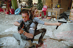 RELEASE DATE: June 10, 2005 <br /> MOVIE TITLE: Mr. and Mrs. Smith <br /> STUDIO: Regency Enterprises <br /> DIRECTOR: Doug Liman <br /> PLOT: A bored married couple is surprised to learn that they are both assassins hired by competing agencies to kill each other. <br /> PICTURED: BRAD PITT as John Smith, ANGELINA JOLIE as Jane Smith. <br /> (Credit Image: © Regency Enterprises/Entertainment Pictures/ZUMAPRESS.com)