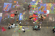 The annual Chalk Fest at 104th Street, between Lexington and Third Avenues in Manhattan, NY.