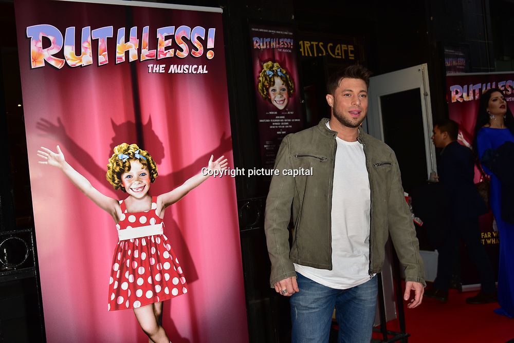 Duncan James arrives at Ruthless! The Musical - Arts Theatre opening night on 27 March 2018  at Arts Theatre, London, UK.