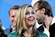 Koning Maxima is als lid van het Nederlands Comite voor Ondernemerschap en Financiering, aanwezig bij de uitreiking van de 8e LOEY Awards, de prijzen voor de beste online ondernemer van het jaar. <br /> <br /> King Maxima is a member of the Dutch Committee for Entrepreneurship and Finance, presenting the 8th LOEY Awards, the award for the best online entrepreneur of the year.<br /> <br /> Op de foto / On the Photo: <br /> <br />  Aankomst Koningin Maxima / Arrival Queen Maxima