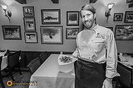 Chef Andy Blanton at Cafe Kandahar on big Mountain in Whitefish, Montana, USA