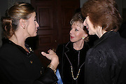 Marchioness of Doura, Lily Safra and Deborah Swallow, Celebration honouring the arrival of Deborah Swallow, director, Courtauld Institute of Art. Courtauld Gallery. Somerset House. 9 December 2004. ONE TIME USE ONLY - DO NOT ARCHIVE  © Copyright Photograph by Dafydd Jones 66 Stockwell Park Rd. London SW9 0DA Tel 020 7733 0108 www.dafjones.com