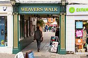 Entrance to Weavers Walk shopping centre Northbrook Street, Newbury, Berkshire, England, UK
