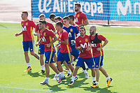 Andres Iniesta, Pedro Rodriguez, Marco Asensio during the training of the spanish national football team in the city of football of Las Rozas in Madrid, Spain. August 28, 2017. (ALTERPHOTOS/Rodrigo Jimenez)
