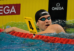 28-11-2010 Swimming, EUROPEAN SHORT COURSE CHAMPIONSHIPS: EINDHOVEN 2010: Peter Mankoc SLO win the silver medal 100m individuel medley /  Photo by Ronald Hoogendoorn / SPORTIDA PHOTO AGENCY