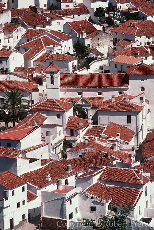 SPAIN, ANDALUSIA BENALADALID; mountain village in the Serrania de Ronda, between Ronda and the Costa del Sol