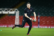 Steff Evans of Wales during the Wales rugby team captains run at the Principality Stadium  in Cardiff , South Wales on Friday 2nd February 2018.  the team are preparing for their opening Natwest 6 Nations 2018 championship match against Scotland tomorrow.   pic by Andrew Orchard