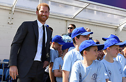 May 30, 2019 - London, London, United Kingdom - Image licensed to i-Images Picture Agency. 30/05/2019. London, United Kingdom. Prince Harry, The Duke of Sussex, at the opening match of the 2019 ICC Cricket World Cup between England and South Africa at The Oval in London. (Credit Image: © Pool/i-Images via ZUMA Press)