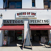 Tattoo salon on Venice beach. Los Angeles, California