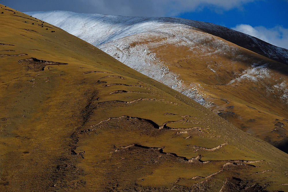 Mountains, Zhidua, Tibetan Plateau, Qinghai, China