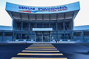 A general view of the privately-owned airport in Kapan, southern Armenia bordering Azerbaijan. Syunik airport was meant to start its flight operations next year said its manager Karin on Friday, Dec 18, 2020, but the newly erupted border crisis between Armenia and Azerbaijan that led to a fully escalated 44 days of war may postpone planned opening for unforeseeable future. <br /> <br /> Kapan is a provincial capital of Syunik Province in southeast Armenia. It is located in the valley of the Voghji River and is on the northern slopes of Mount Khustup. Kapan lays along the disputed borderline with Azerbaijan with whom Armenia's long-standing frozen conflict escalated into a full scare of war for the 3rd time on Sept 27, 2020. (Photo/ Vudi Xhymshiti)