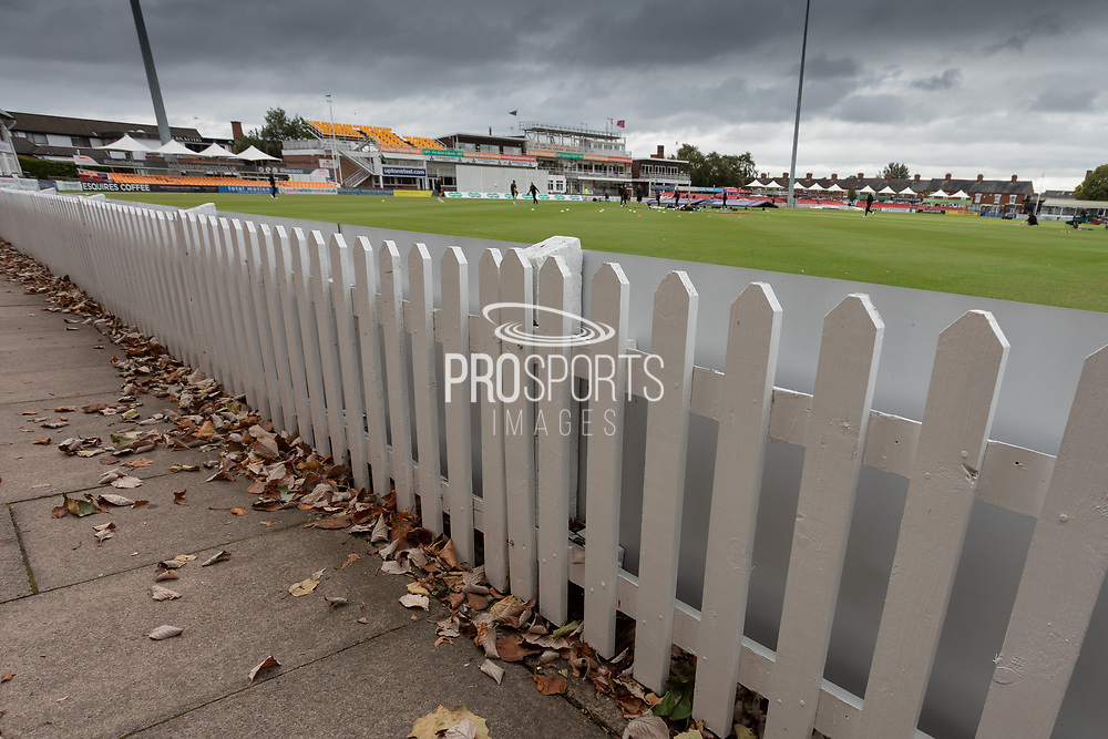 Autumnal feeling before Day 2 of the Specsavers County Champ Div 2 match between Leicestershire County Cricket Club and Northamptonshire County Cricket Club at the Fischer County Ground, Grace Road, Leicester, United Kingdom on 11 September 2019.