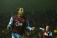 Photo: Andrew Unwin.<br />Sunderland v Aston Villa. The Barclays Premiership.<br />19/11/2005.<br />Aston Villa's Milan Baros (L) celebrates scoring his team's third goal.