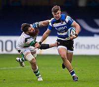 Bath Rugby's Tom de Glanville in action during todays match<br /> <br /> Photographer Bob Bradford/CameraSport<br /> <br /> Gallagher Premiership Round 1 - Bath Rugby v Newcastle Falcons - Saturday 21st November 2020 - The Recreation Ground - Bath<br /> <br /> World Copyright © 2020 CameraSport. All rights reserved. 43 Linden Ave. Countesthorpe. Leicester. England. LE8 5PG - Tel: +44 (0) 116 277 4147 - admin@camerasport.com - www.camerasport.com