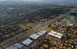 JOHANNESBURG, March 27, 2020  Aerial photo taken on March 27, 2020 shows almost-empty roads and streets in Johannesburg, South Africa, on the first day of a 21-day national lockdown. South Africa on Friday reported its first two deaths resulting from the novel coronavirus, with the total number of confirmed cases in the country topping 1,000, according to its health ministry. To cope with the epidemic, the South African government announced a 21-day national lockdown starting from midnight Thursday. (Credit Image: © Chen Cheng/Xinhua via ZUMA Wire)