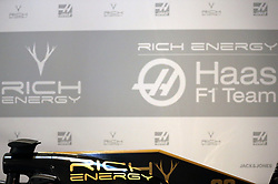 A general view of the new livery during the Rich Energy Haas F1 Team 2019 car launch at the Royal Automobile Club, London.