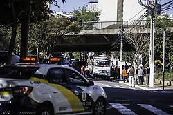 July 29, 2017 - Operação realizada na manhã deste sábado (29) removeu moradores sem teto do Viaduto Julio de Mesquita Neto, na Bela Vista, região central de São Paulo. (Credit Image: © Bruno Rocha/Fotoarena via ZUMA Press)