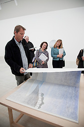 © London News Pictures. 13/04/11 Press day at the Turner Contemporary, Margate. Opening exhibits explore the themes of imagination, discovery, wonder and the creative spirit by Daniel Buren, Russell Crotty, Ellen Harvey and Conrad Shawcross. The gallery is to be opened officially on 16th April 2011 by Tracy Emin and Jools Holland. Photo credit should read MANU PALOMEQUE/London News pictures