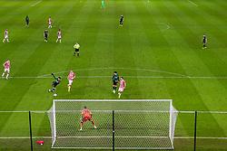 Dele Alli of Tottenham Hotspur volleys towards Stoke's goal - Mandatory by-line: Nick Browning/JMP - 23/12/2020 - FOOTBALL - Bet365 Stadium - Stoke-on-Trent, England - Stoke City v Tottenham Hotspur - Carabao Cup
