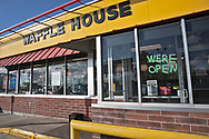 Waffel house in Chalemette  LA  now only serving take out only due to coronavirus pandemic.