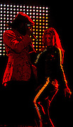 Belo Horizonte_MG, Brasil...Show da banda americana Black Eyed Peas no 2o dia do Pop Rock Brasil no Mineirao. Na foto o cantor William e a cantora Fergie...Show of the Amercian band Black Eyed Peas in the second day of Pop Rock Brazil on Mineirao. In this photo the singers William and Fergie...Foto: LEO DRUMOND / NITRO