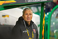 CFR Cluj Manager Dan Petrescu during the Europa League match between Celtic and CFR Cluj at Celtic Park, Glasgow, Scotland on 3 October 2019.