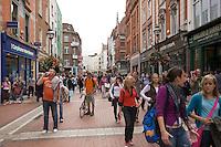 Grafton Street in Dublin Ireland, the city's main shopping street
