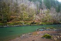 Fly fishing the Nehalem River, Oregon.