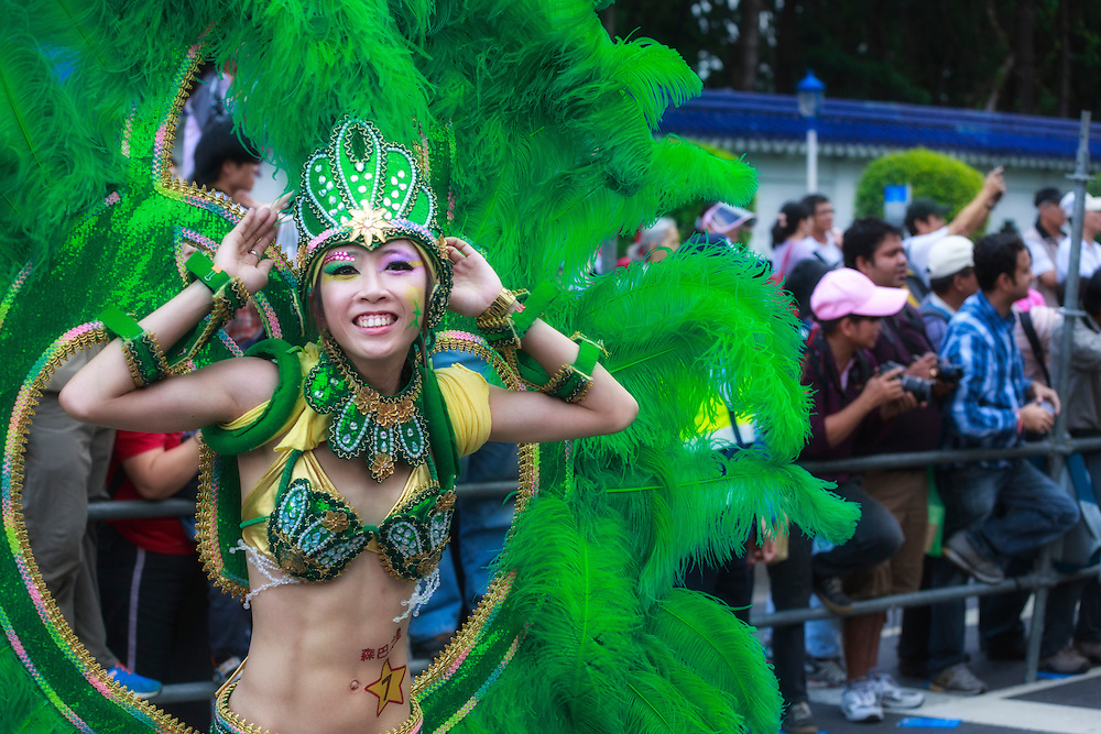 Elaborate, revealing costumes are a feature for performers of all ages at Taipei's annual Dream Parade.