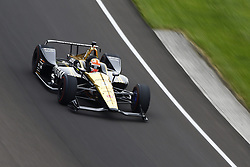 May 18, 2018 - Indianapolis, Indiana, United States of America - JAMES HINCHCLIFFE (5) of Canada brings his car through turn one during ''Fast Friday'' practice for the Indianapolis 500 at the Indianapolis Motor Speedway in Indianapolis, Indiana. (Credit Image: © Chris Owens Asp Inc/ASP via ZUMA Wire)