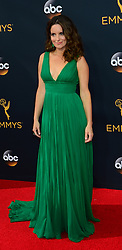 September 18, 2016 - Los Angeles, California, United States - Tina Fey arrives at the 68th Annual Emmy Awards at the Microsoft Theater in Los Angeles, California on Sunday, September 18, 2016. (Credit Image: © Michael Owen Baker/Los Angeles Daily News via ZUMA Wire)