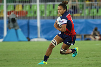 August 08, 2016; Rio de Janeiro, Brazil; USA Women's Eagles Sevens Joanne Fa'avesi in action against France during the Women's Rugby Sevens 5th Place Play-Off match on Day 3 of the Rio 2016 Olympic Games at Deodoro Stadium. Photo credit: Abel Barrientes - KLC fotos
