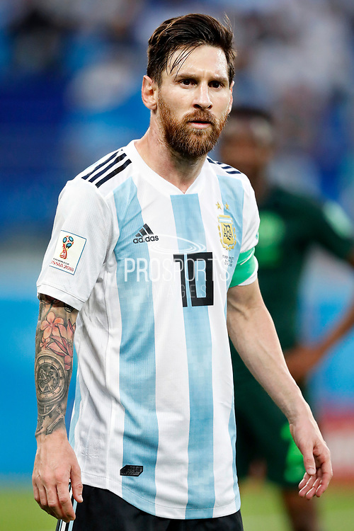 Argentina forwarder Lionel Messi during the 2018 FIFA World Cup Russia, Group D football match between Nigeria and Argentina on June 26, 2018 at Saint Petersburg Stadium in Saint Petersburg, Russia - Photo Stanley Gontha / Pro Shots / ProSportsImages / DPPI