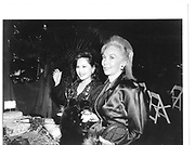 "Dewi Sukarno(left), Lisa Saloman, Martimeir ""Fete de Famille"" 1st October 1992© Copyright Photograph by Dafydd Jones 66 Stockwell Park Rd. London SW9 0DA Tel 020 7733 0108 www.dafjones.com"