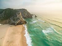 Praia da Adraga views on the coast of Portugal.